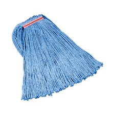 "24 Oz Cut-End Blend Cotton/Synthetic Mop Heads with 1"" Headband in Blue"