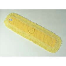 "36"" Trapper Commercial Dust Mop with Looped-End Launderable in Yellow"
