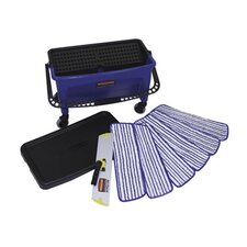Microfiber Floor Finishing System in Blue / Black / White
