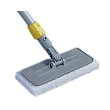 Upright Scrubber Plastic Pad Holder with Threaded Adapter in Gray