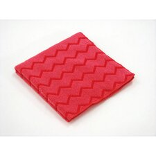 <strong>Rubbermaid Commercial Products</strong> Hygen Microfiber Cleaning Cloths in Red