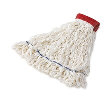 Clean Room Large Rayon Mop Heads with Looped-End in White