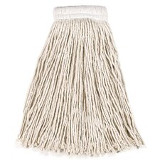 "16 Oz Economy Cotton Mop Heads with 5"" White Headband"