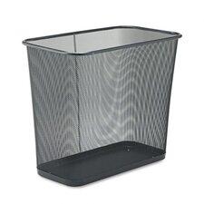 Rectangular Steel Mesh Wastebasket in Black