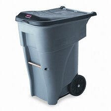 <strong>Rubbermaid Commercial Products</strong> Brute Rollout Heavy-Duty Waste Square Container, 65 Gal