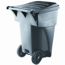 <strong>Rubbermaid Commercial Products</strong> Brute Rollout Heavy-Duty Waste Square Container, 95 Gal