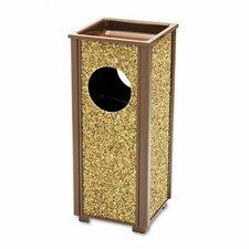 Aspen Outdoor Sand Urn/Litter Receptacle, Sq, Stl, 2.5gal, BN