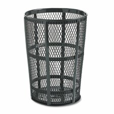 Steel Street Basket Waste Round Receptacle