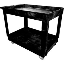 "<strong>Rubbermaid Commercial Products</strong> 2  Shelf Food Service & Utility Truck with 4"" Casters (large)"