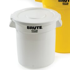 <strong>Rubbermaid Commercial Products</strong> Vented Round Brute Flat Top Lid in White