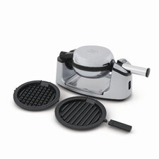 Rotating Waffle Baker with Grilling Plates