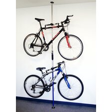 Sparehand Floor To Ceiling Multi-Bike Storage Q-Rack System in Gray