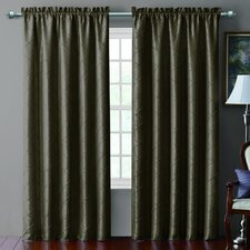 <strong>Victoria Classics</strong> Sable Pintucked Taffeta Rod Pocket  Curtain Single Panel