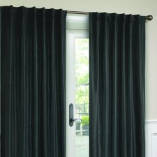 Interlined Faux Silk Rod Pocket Curtain Single Panel