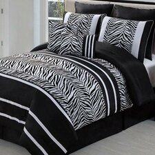 Laken Zebra 8 Piece Comforter Set