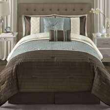 Vaugh Pintuck 6 Piece Comforter Set