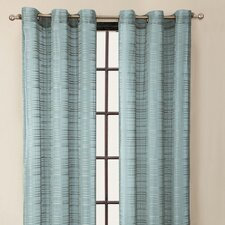 Clinton Stripe Grommet Curtain Single Panel