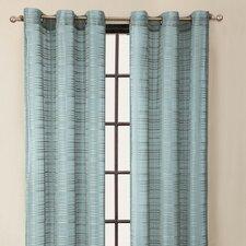 Clinton Stripe Grommet Curtain Single Panel