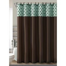 Caitlin Flocked Shower Curtain