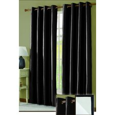 <strong>Victoria Classics</strong> Taffeta Lined Grommet Curtain Single Panel