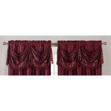 "Felice 2 Piece 54"" Curtain Valance"