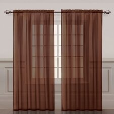 Infinity Rod Pocket Sheer Curtain Single Panel