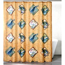 Bass Hooked Polyester Shower Curtain