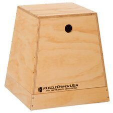 <strong>Muscle Driver USA</strong> 2 in 1 Wooden Plyometric Box