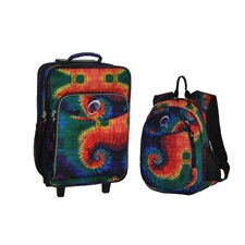 2 Piece Tie Dye Kids Luggage and Backpack Set