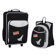 2 Piece Space Kids Luggage and Backpack Set