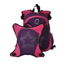 O3 Munich Bling Rhinestone Star School Backpack with Detachable Lunch Cooler