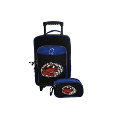 O3 Kids Racecar Luggage and Toiletry Bag Set