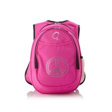 Kids All in One Pre-School Bling Rhinestone Peace Cooler Backpack