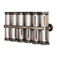 Wall Mount Magnetic Spice Rack 12 Piece Set