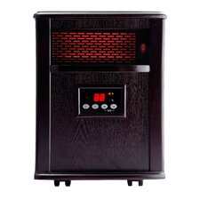 Silver 1,500 Watt Infrared Cabinet Portable Space Heater