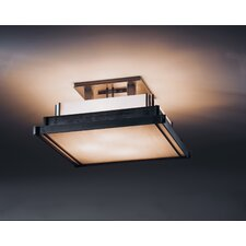<strong>Hubbardton Forge</strong> Steppe Square 4 Light Semi Flush Mount