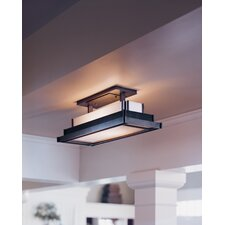 <strong>Hubbardton Forge</strong> Steppe Square 2 Light Semi Flush Mount