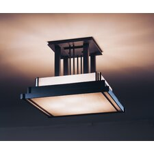 Steppe 4 Light Art Glass Semi Flush Mount