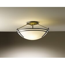 Presidio Small 2 Light Semi Flush Mount in Dark Smoke