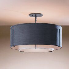 Exos Double Shade 1 Light Semi-Flush Mount