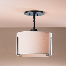 Exos Single Shade 1 Light Semi Flush Mount