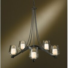 <strong>Hubbardton Forge</strong> 5 Light Ribbon Chandelier with 5 Arms