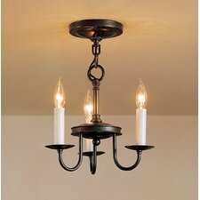 3 Light Chandelier with 3 Arms