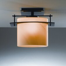 Ellipse 1 Light Outdoor Medium Semi Flush Mount