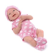 Berenguer Boutique Newborn Doll with Pink Polka Dot Bodysuit