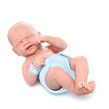 "La Newborn - 14"" Closed Eyes Real Boy Vinyl Doll"