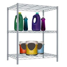"Wire 21"" H Three Shelf Shelving Unit"