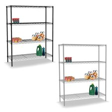 """Wire 36"""" H Four Shelf Shelving Unit"""