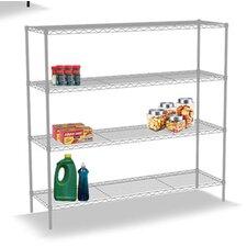 """Wire 48"""" H Four Shelf Shelving Unit"""