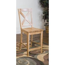 "Green Home 24"" Crossback Bar Stool"